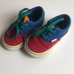 VANS Classic Primary Color Shoes Toddler Size 4